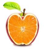 Apple - πορτοκαλής καρπός Στοκ φωτογραφίες με δικαίωμα ελεύθερης χρήσης