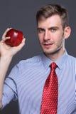 Apple, πορτρέτο του νέου επιχειρησιακού ατόμου Στοκ φωτογραφία με δικαίωμα ελεύθερης χρήσης