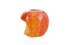 Apple που δαγκώνεται που απομονώνεται Στοκ Εικόνες