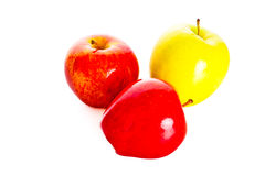 Apple που απομονώνεται στα άσπρα φυτικά τρόφιμα υποβάθρου Στοκ Εικόνα