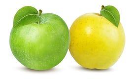Apple που απομονώνεται στο λευκό Στοκ φωτογραφίες με δικαίωμα ελεύθερης χρήσης