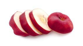 Apple που απομονώνεται στο λευκό Άποψη κόκκινων κορυφών της Apple Με το ψαλίδισμα του μονοπατιού Στοκ φωτογραφίες με δικαίωμα ελεύθερης χρήσης
