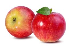Apple που απομονώνεται στο λευκό Στοκ φωτογραφία με δικαίωμα ελεύθερης χρήσης