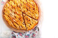 Apple που γεμίζει την πίτα δικτυωτού πλέγματος Στοκ Φωτογραφίες
