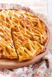Apple που γεμίζει την πίτα δικτυωτού πλέγματος Στοκ Εικόνες