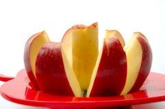Apple που κόβεται στο άσπρο υπόβαθρο Στοκ Εικόνες