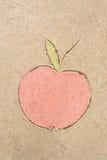 Apple που σύρει στην άμμο Στοκ φωτογραφία με δικαίωμα ελεύθερης χρήσης