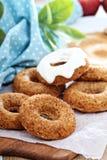 Apple που ψήνεται donuts με το λούστρο Στοκ φωτογραφίες με δικαίωμα ελεύθερης χρήσης