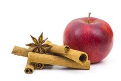 Apple, ραβδιά κανέλας και γλυκάνισο Στοκ εικόνα με δικαίωμα ελεύθερης χρήσης