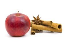 Apple, ραβδιά κανέλας και γλυκάνισο Στοκ Εικόνες