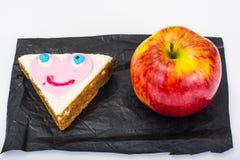 Apple, σάντουιτς, κέικ για τα παιδιά Στοκ Εικόνα