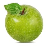 Apple σε ένα λευκό Στοκ εικόνες με δικαίωμα ελεύθερης χρήσης