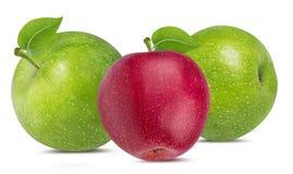 Apple σε ένα λευκό Στοκ Φωτογραφία