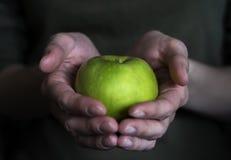 Apple στα θηλυκά χέρια Στοκ φωτογραφία με δικαίωμα ελεύθερης χρήσης