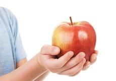 Apple στα χέρια παιδιών Στοκ Εικόνα