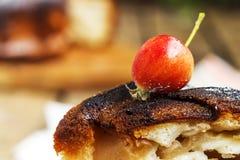 Apple στην πίτα του Σαρλόττα Στοκ Εικόνες