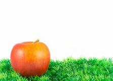 Apple στην πράσινη χλόη Στοκ Εικόνες