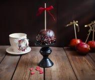 Apple στη σοκολάτα Στοκ εικόνα με δικαίωμα ελεύθερης χρήσης