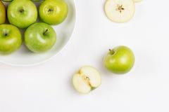 Apple στον άσπρο πίνακα Στοκ Φωτογραφία