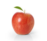 Apple στο άσπρο υπόβαθρο Στοκ φωτογραφίες με δικαίωμα ελεύθερης χρήσης