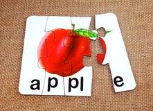 Apple στο γρίφο Στοκ Εικόνες