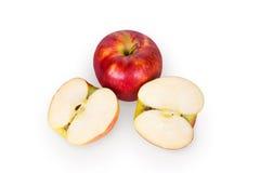 Apple στο μισό Στοκ Εικόνα