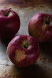 Apple στο πιάτο χάλυβα Στοκ φωτογραφία με δικαίωμα ελεύθερης χρήσης