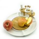 Apple στο πιάτο Στοκ Εικόνες