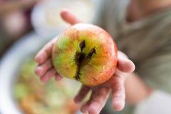 Apple στο χέρι παιδιών ` s Στοκ φωτογραφία με δικαίωμα ελεύθερης χρήσης