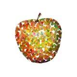 Apple στο ύφος pointillism Στοκ Φωτογραφία