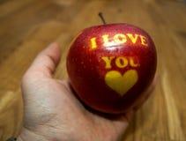 Apple σ' αγαπώ Στοκ φωτογραφίες με δικαίωμα ελεύθερης χρήσης