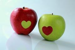 Apple της αγάπης Στοκ φωτογραφία με δικαίωμα ελεύθερης χρήσης