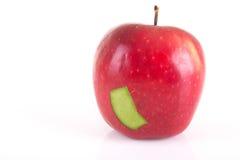 Apple το πράσινο μπάλωμα που απομονώνεται με πέρα από το λευκό Στοκ εικόνα με δικαίωμα ελεύθερης χρήσης