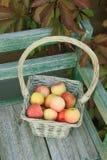 Apple в корзине Стоковая Фотография