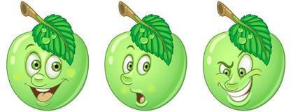 Apple Собрание смайлика Emoji еды иллюстрация штока