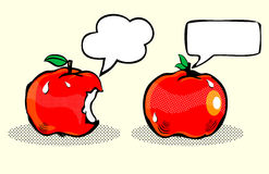 Apple с речью/плодоовощ пузыря в искусстве шипучки Стоковая Фотография RF