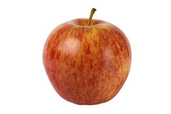 Apple. Red yellow apple on white background Royalty Free Stock Photos