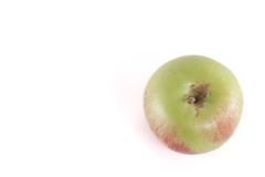Apple. Single apple isolated on white background stock photo