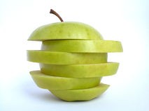 Apple. Green apple in slices Stock Photo