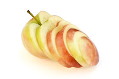 Apple. One big cut apple isolated white background Stock Images