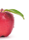 Apple. Closeup shot of fresh red apple on isolated background stock photos