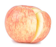 Apple. Cutting apple on isolated white background Stock Photography
