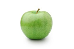Apple. Green apple on a white background Stock Image