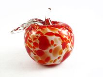 Apple. Designer red apple from crystal Stock Images