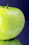 Apple. Fresh green apple with drops Stock Images