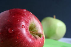 Apple. Red apple, blob and apple, vitamins Stock Image