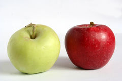 Apple. Red apple, yellow apple, apples Stock Image