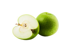 Apple. Fresh apple of green colour isolated on a white background Stock Photography