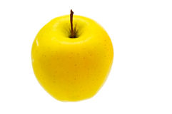Apple. Yellow  apple isolated on white background Stock Photo