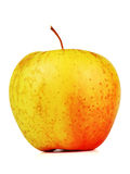 Apple. Red-yellow apple over white isolated royalty free stock images